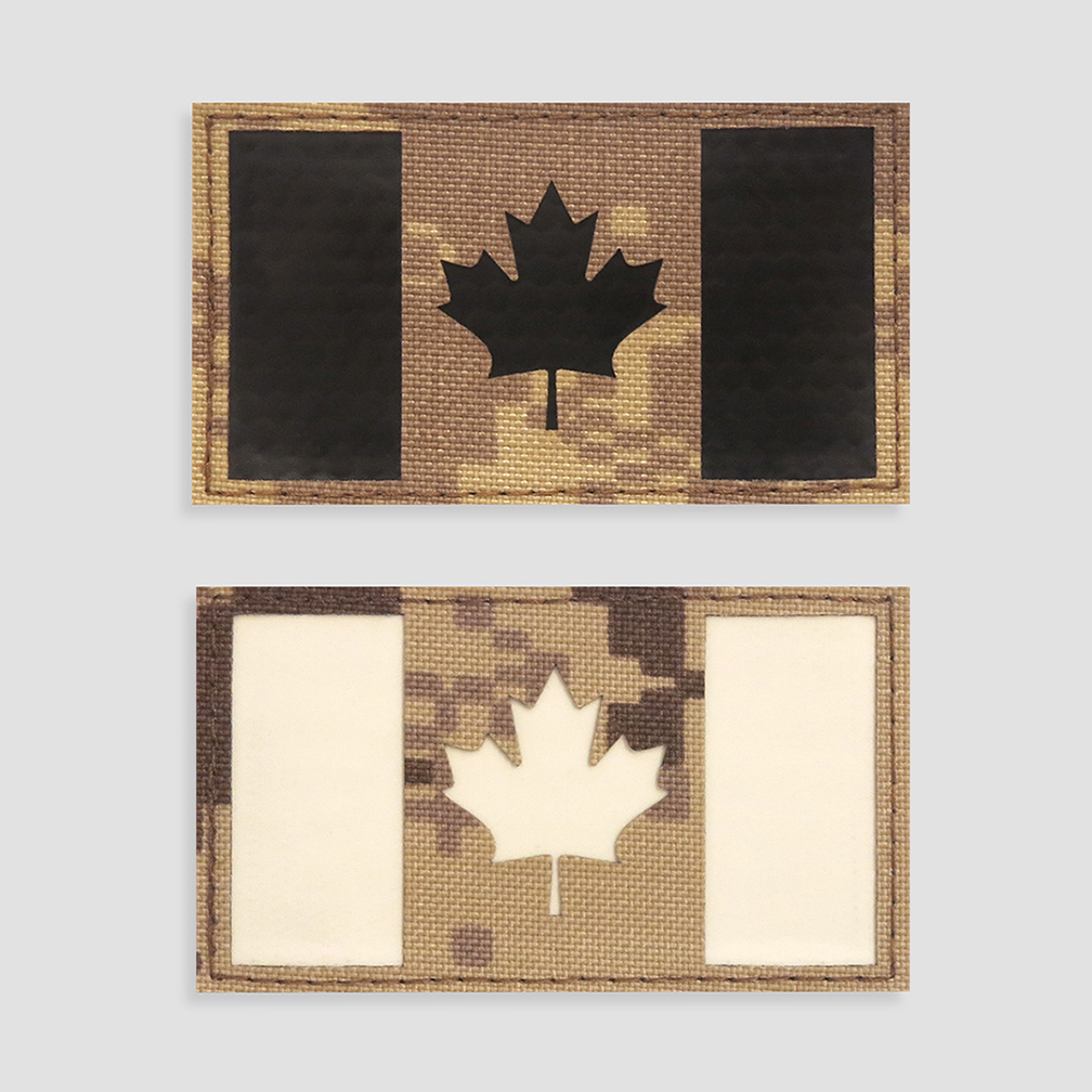 Canadian flag velcro patches perroz designs