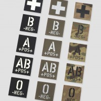 Medical Velcro Patches – Blood Type